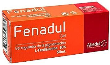 FENADUL Gel Acelerador de la Pigmentación con L-Fenilalanina   50 ml   Favorece la Producción de Melanina y Acelera el Bronceado   Crema Repigmentante para Manchas Blancas en Cara y Cuerpo y Vitíligo