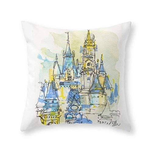 DREAM-S Cinderella's Castle Magic Kingdom Throw Pillow Indoor Cover (18