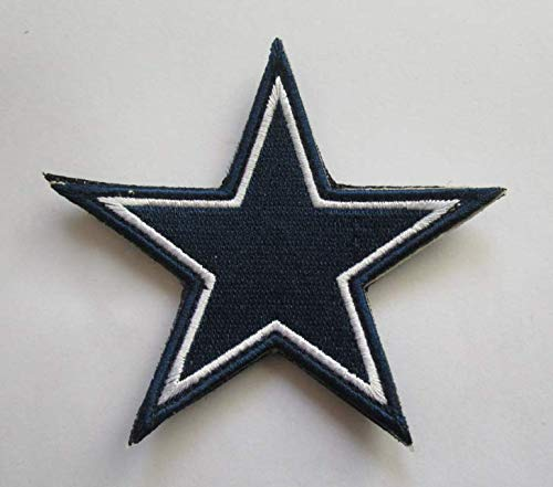 Dallas Cowboys Star Logo Military Patch Fabric Embroidered Badges Patch Tactical Stickers for Clothes with Hook & Loop (Cowboys Fabric Dallas)