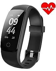 Aneken Pulsera Actividad Pulsera Inteligente Smart Bracelet Tracker con Monitor de Ritmo Cardíaco Activity Tracker Bluetooth Podómetro con Sleep Monitor Smart Watch para iPhone y Android Smartphones