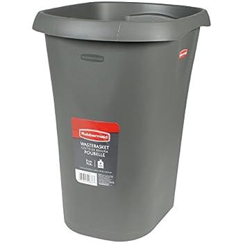 Rubbermaid FG5L5100CSHM Vanity Wastebasket, 12-Quart, Cashmere