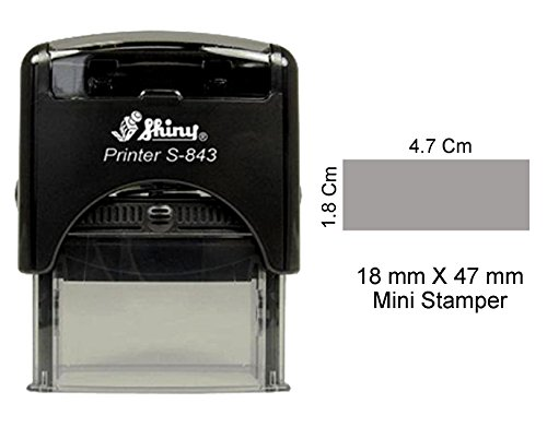 - Self Inking Shiny Rubber Stamp Custom Office Stationery 18 x 47mm Mini Stamper