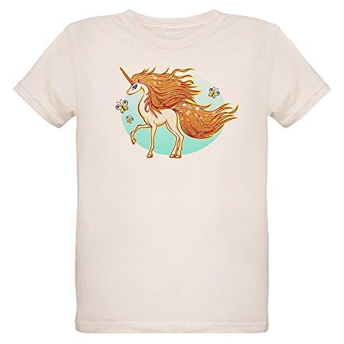 - Truly Teague Organic Kids T-Shirt Golden Sparkle Unicorn with Butterflies - Small (8 Yrs)