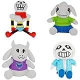 """Undertale Set of 4 Cute SANS PAPYRUS TORIEL and ASRIEL Plush Stuffed Doll Toy 10""""-14"""""""