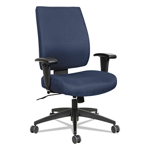 Alera ALEHPS4202 Wrigley Series High Performance Mid-Back Synchro-Tilt Task Chair, Blue