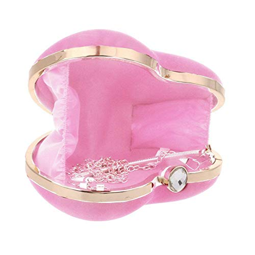 Heart TOOGOO Evening Party Shape Purse Tote Girls Women Pink Handbag rrTgv6