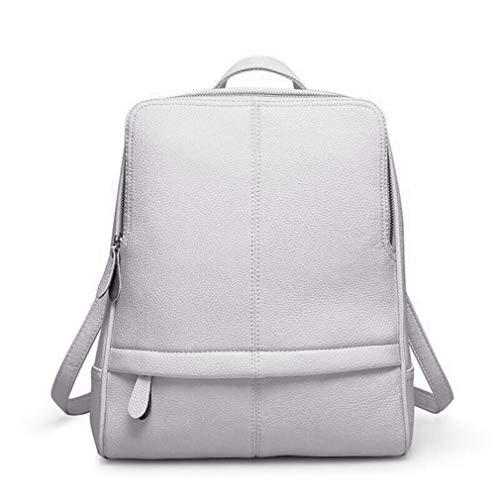 Travel Travel Gray Women Soft Backpack Shoulder Leather Bag Leisure Student Schoolbag Female Pu dT7zwd