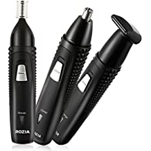 ROZIA Nose Trimmer,Rechargeable Hair Clipper Facial Mustache Beard Grooming Shaver Cutting Kit Set for Men