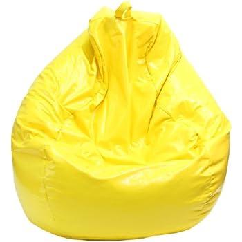 Good Gold Medal Bean Bags 30011209816TD Large Wet Look Vinyl Tear Drop Bean Bag,  Yellow