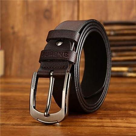ZUOZUO Cinturón Correa Correa De Cuero para Hombres Pantalones Vaqueros De Diseño De Dos Colores Cuero De Estilo Casual para Hombres