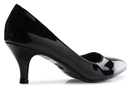 Office Stiletto Heel Dress Women's Kitten Sexy Low Black Pump Business Slip Ml05 Shoes On Fashion xwgnn0SqEA