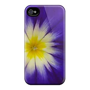 DaMMeke HAZIkaM3754gupgm Case Cover Iphone 4/4s Protective Case Flower Purple