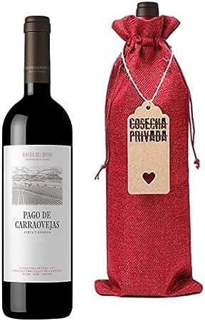 Pago de Carraovejas - Botella para Regalo - Vino Tinto - Ribera del Duero - Enviado por Cosecha Privada