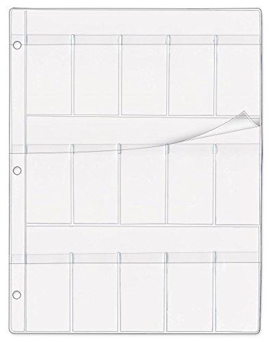 StoreSMART - Medical Glass Slide Holder - 15 Pockets with Flaps - Clear Plastic - 100-Pack - (Glass Slide Holder)