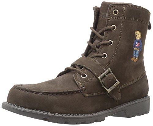 Polo Ralph Lauren Kids Ranger Hi II Fashion Boot, Chocolate Nubuck, 3 Medium US Little - Polo Boots.com