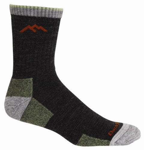 Darn Tough Hiker Micro Crew Cushion Sock - Men's Lime Large made in New England