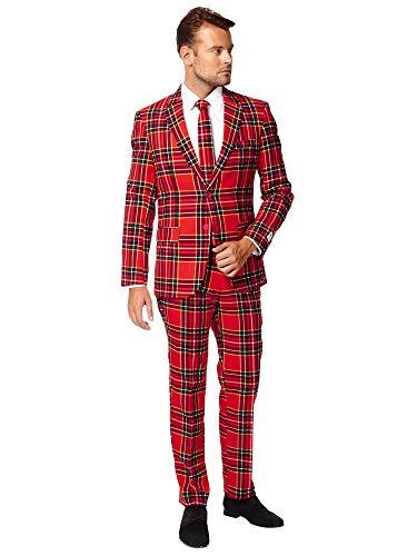 OppoSuits Men's The Lumberjack Party Costume Suit, Multi, 42 -