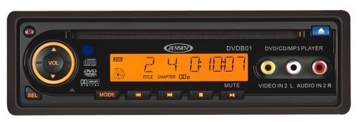Jensen DVDB01 DVD Player 12V, DIN Mount, Remote Control, Plays CD/DVD/MP3/WMA