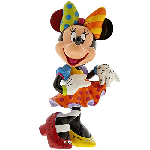 Enesco Disney by Britto Minnie Mouse Bling 90th Celebration Stone Resin Figurine, Multicolor
