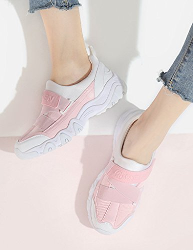 Printemps Épaisses Couleur Sport Sports 39 Femmes Féminines Des Femme De Chaussures Rose Beige Bottom Course Hwf Taille Shoes 1f0Iqgw