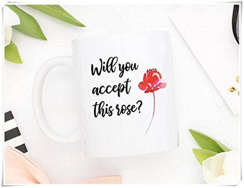Bachelor Mug | Will You Accept This Rose | Coffee Mug | The Bachelor | Pop Culture Mug | Bachelorette | TV Show Mug | Best Friend Gift- 11oz Ceramic -