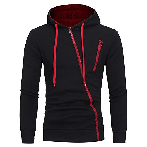 HYSWY Hoodies Zipper Jacket Black XXXL for sale  Delivered anywhere in Canada