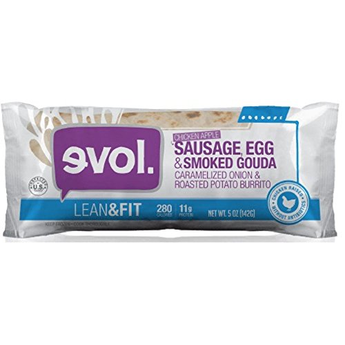 Evol Foods Lean and Fit Chicken Apple Sausage Egg Smoked Gouda Breakfast Burrito, 5 Ounce - 12 per case. by Evol Foods