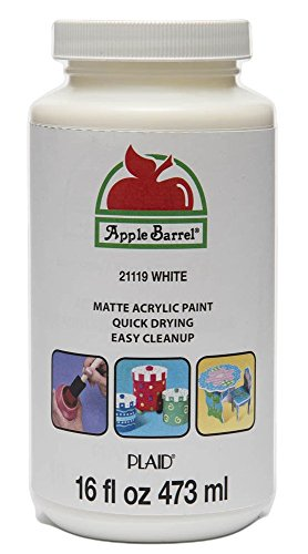 Apple Barrel Acrylic Paint in Assorted Colors (16 Ounce), 21119 White from Apple Barrel