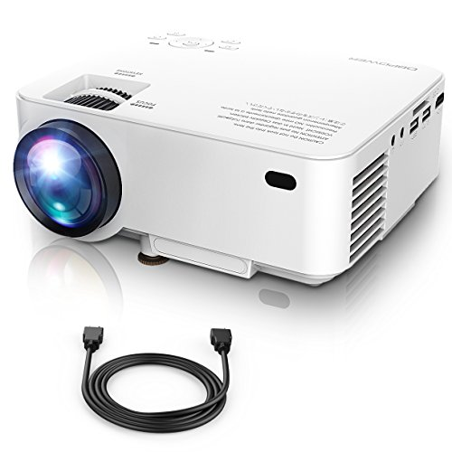 """Mini Projector, 50% Brighter LED Movie Projector with 176"""" D"""