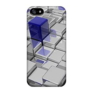 High Quality BFr916BQWE 3d Cubes Tpu Cases For Iphone 5/5s