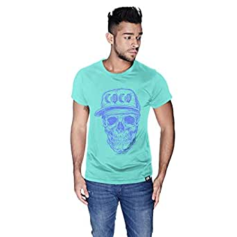 Creo Violet Coco Skull T-Shirt For Men - Xl, Green