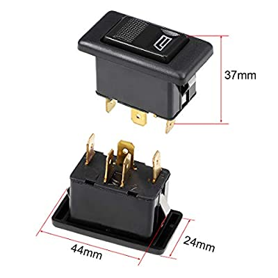 uxcell 5 Pins Car Window Switch Car Control Master Rocker Switch Momentary Glass Lifter Switch DC 12V 2pcs: Automotive
