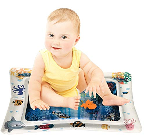 Iusun Inflatable Baby Water Mat Inflatable Tummy Time Premium Infants & Toddlers Perfect Fun time Play Activity Center for Stimulation Growth,Motor Skills,Cognitive Abilities,Social Skills (A) (Sofa Clearance Centre)
