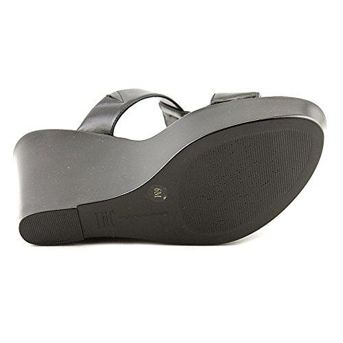 INC International Concepts Paciee Donna US 7 Nero Sandalo con la Zeppa