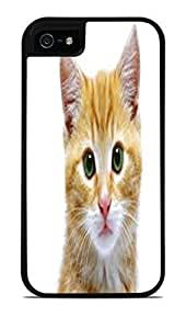 White Kitten Black 2-in-1 Protective Case with Silicone Insert for Apple iPhone 5 / 5S