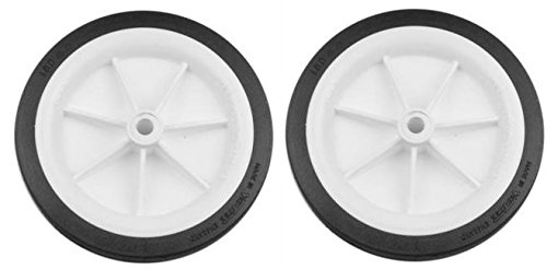102mm Moulded Plastic White Wheel x 2 Hobbies