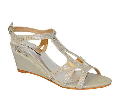 Sandalias para Material de de Dorado Sintético Ciara dorado mujer vestir Zw4dTfq