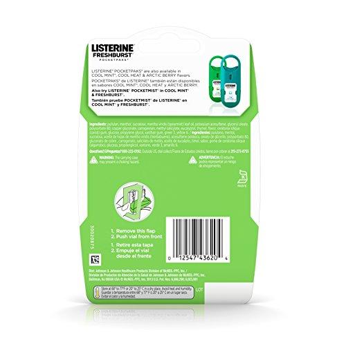Listerine Freshburst Pocketpaks Breath Strips 24 Strip
