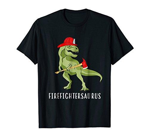 Firefightersaurus Firefighter-a-Saurus Firefighter T-Shirt ()