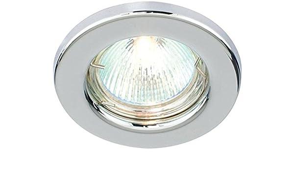 10 embellecedores de cromo pulido, redondos, empotrables en el techo, compatibles con GU10 LED: Amazon.es: Iluminación