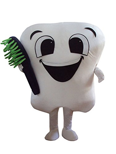 Huiyankej Tooth Mascot Costume Tooth Costume (Large) -