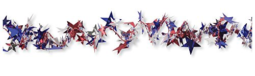 (Creative Converting Patriotic Stars Spiral Wire Garland, 25-Feet)
