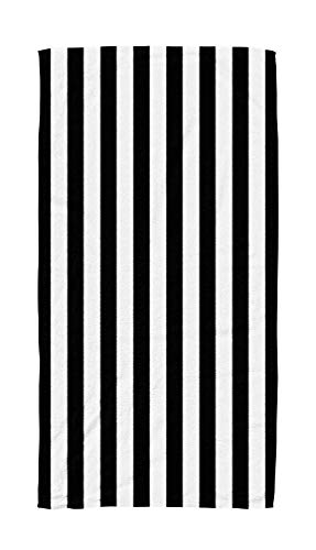 Shorping Kids,Baby,Women and Men Beach Towels Black White Horizontal Striped Background 30x60 Inch Large Pool Towels for Body Bath,Swimming,Travel,Camping,Sport ()