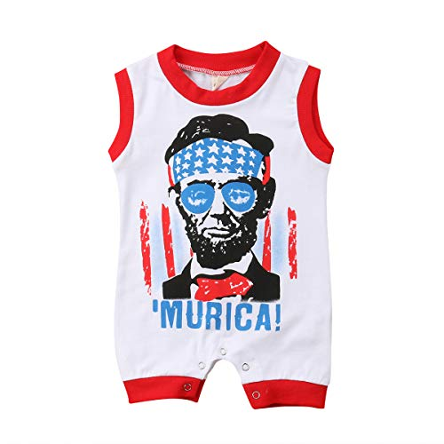 Avatar Body Suit (West Sweety Fashion Baby Boys Stars Avatar Printing Rompers Sleeveless Jumpsuits Cotton Soft Bodysuits (Red,)