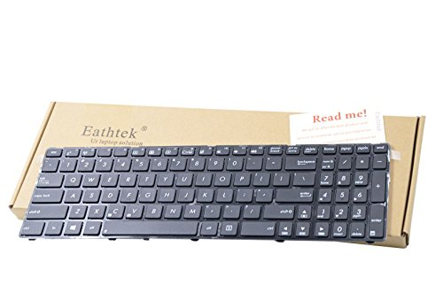 Keyboard with Frame for Asus X54 X 54C X54L X54XI X54XB X54H X54HY series Black US layout (Two kinds of keyboard for X54, check cable position before purchasing) (54c Replacement)