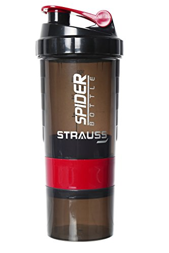Strauss Spider Shaker Bottle 500ml,(Red)