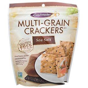 Crunchmaster Multi-Grain Crackers Gluten Free Non GMO, Sea Salt, 4.5 oz (1 Pack)- The Perfect Healthy Snack Cracker