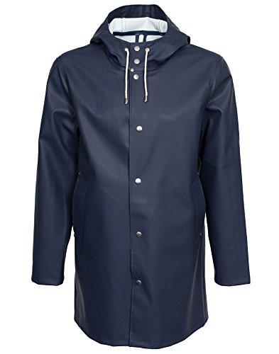 Foul Weather Raincoat (Stutterheim Men's Stockholm Raincoat, Navy, X-Large)