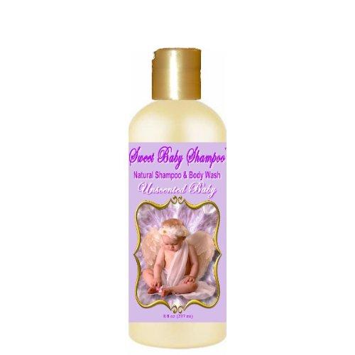 Sweet Baby Shampoo, 8 onces, sans sulfate, sans parabens, phtalates, colorants, Perturbateurs endocriniens, SLS gratuit, naturel (non parfumé Baby)