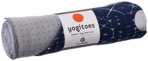 Yogitoes Yoga Mat Towel - Non slip, Sweat Wicking with patented Skidless Technology, Highly Absorbent, Soft and Sustainable Mat Towel for Yoga, Pilates, Gym and Outdoor Fitness